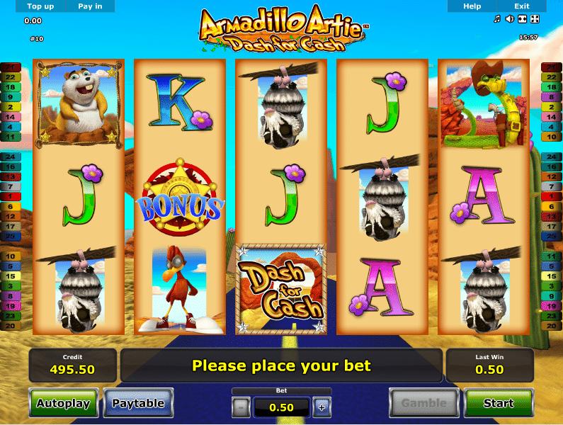 Armadillo Artie Dash For Cash Kostenlos Spielautomat Online