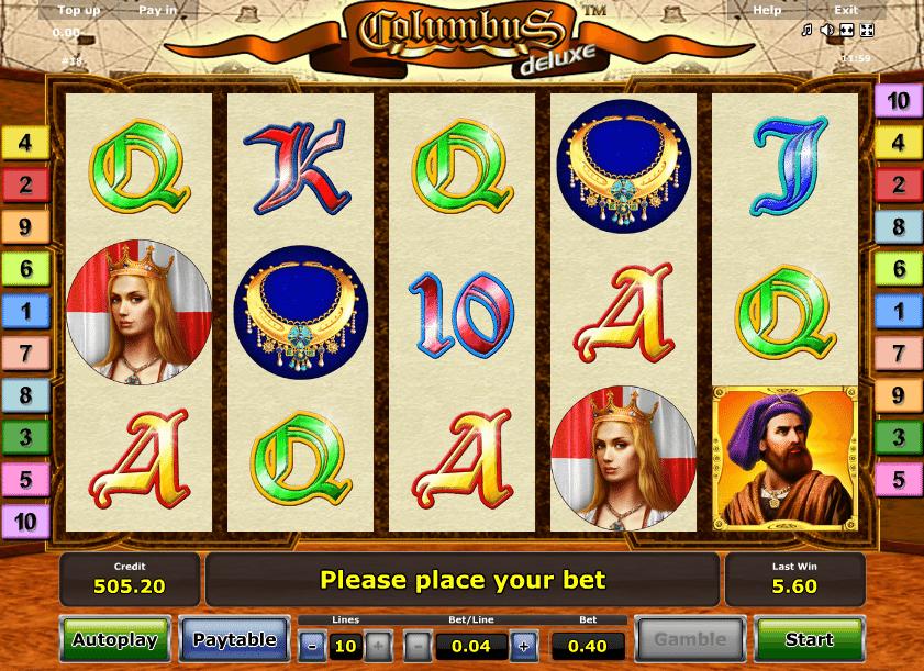 Kostenlos Spielautomat Columbus Deluxe Online