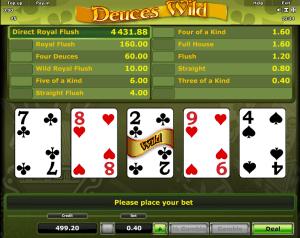 Video Poker Deuces Wild Online Kostenlos Spielen
