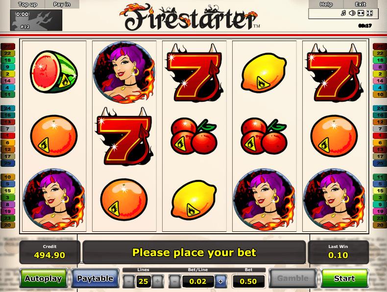 Firestarter Spielautomat - Spielen Sie Novomatic Slots gratis online