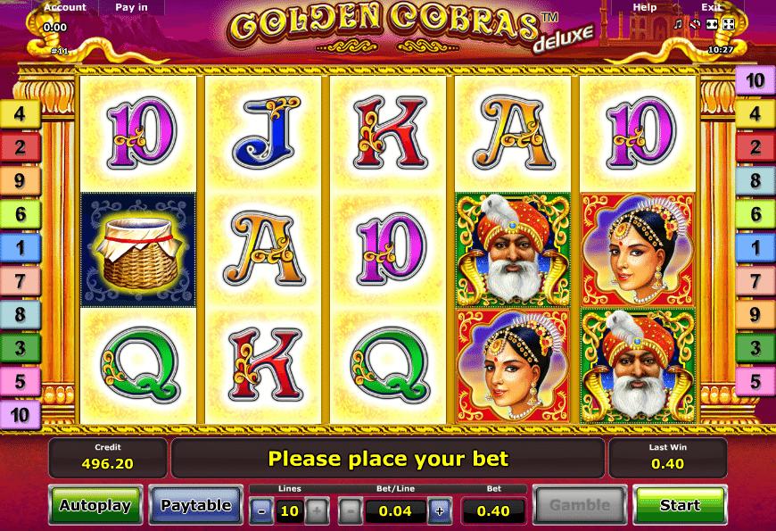Automatenspiele Novoline Golden Cobras Deluxe Online Kostenlos Spielen