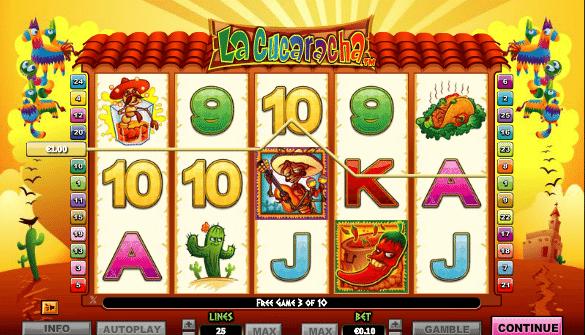 Kostenlose Spielautomat La Cucaracha Online
