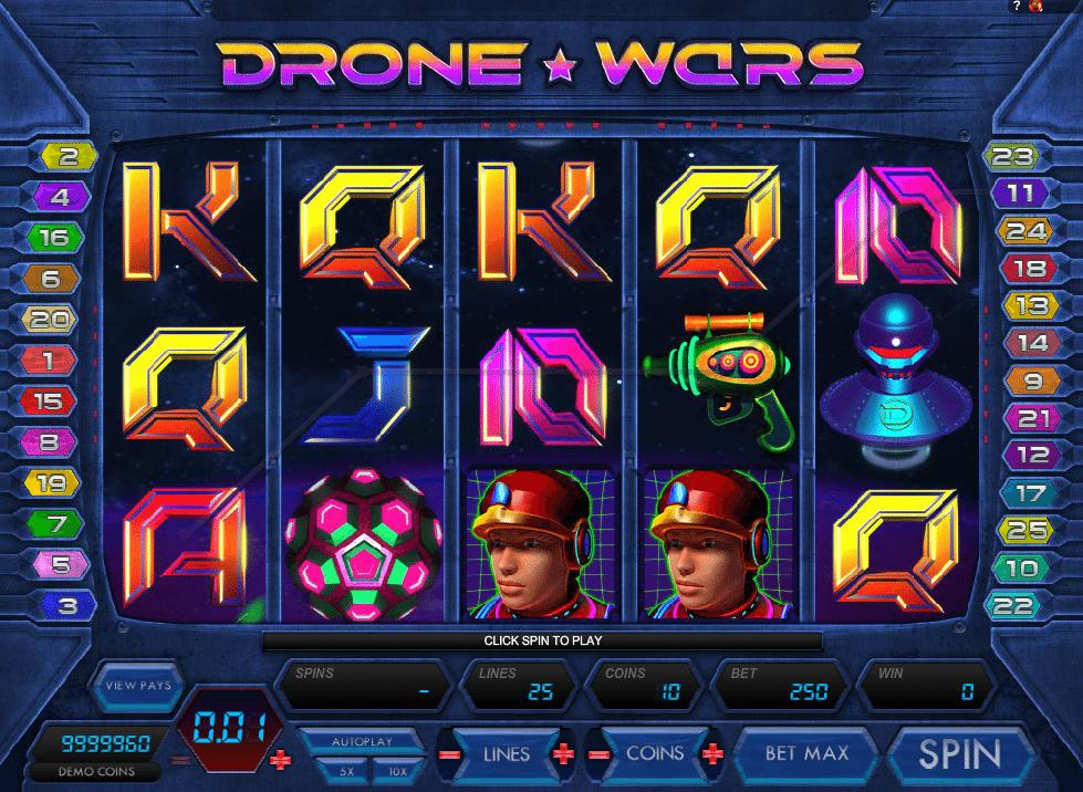 Drone Wars™ Slot spel spela gratis i Microgaming Online Casinon