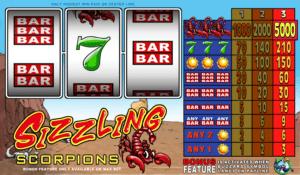 Kostenlose Spielautomat Sizzling Scorpions Online