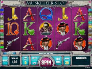 Kostenlose Spielautomat Musketeer Slot Online