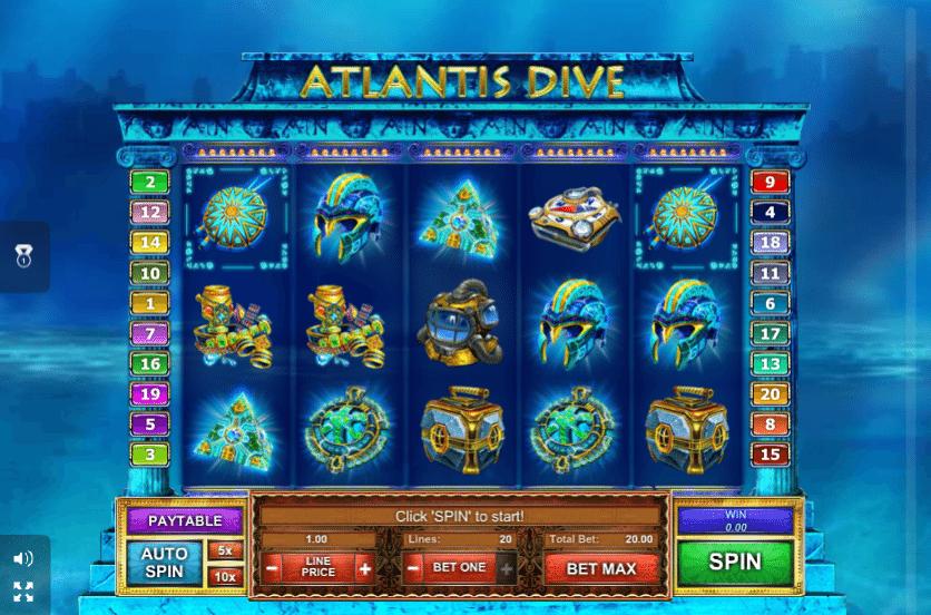 Atlantis slot - spil gratis casinospil online