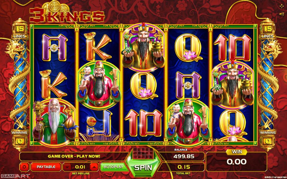 Kings Treasure Spielautomat - Jetzt Online kostenlos spielen