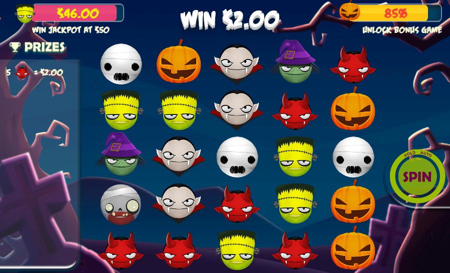 Kostenlose Spielautomat Halloween Emojis Online