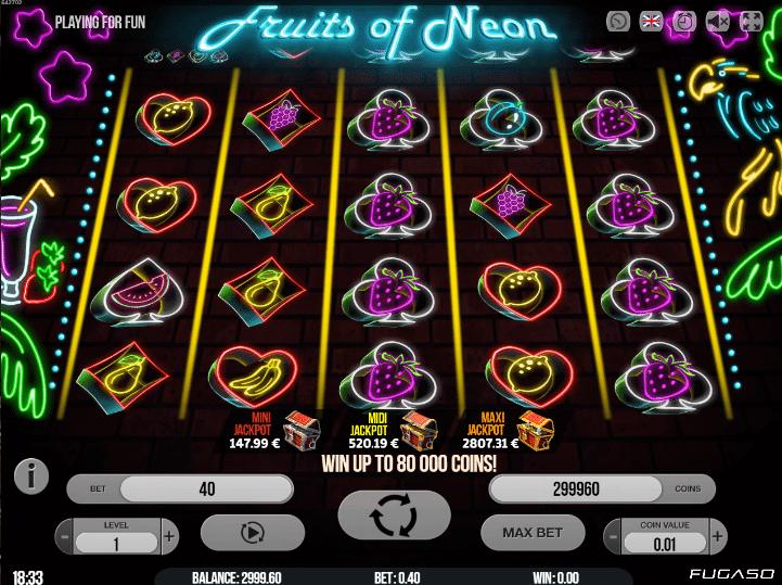 Spiele Fruits Of Neon - Video Slots Online