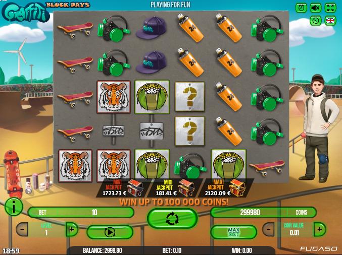 Kostenlose Spielautomat Graffiti: Block Pays Online