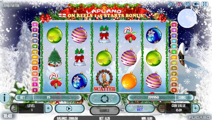 Kostenlose Spielautomat Lapland Online