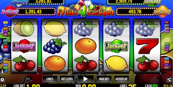 Kostenlose Spielautomat Fruits 4 Jackpot Online