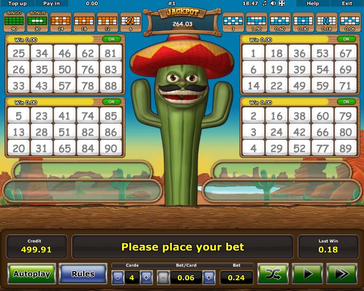 Crazy Cactus Bingo