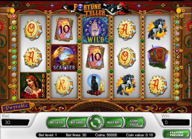 Fortune Teller spilleautomat - spil online gratis