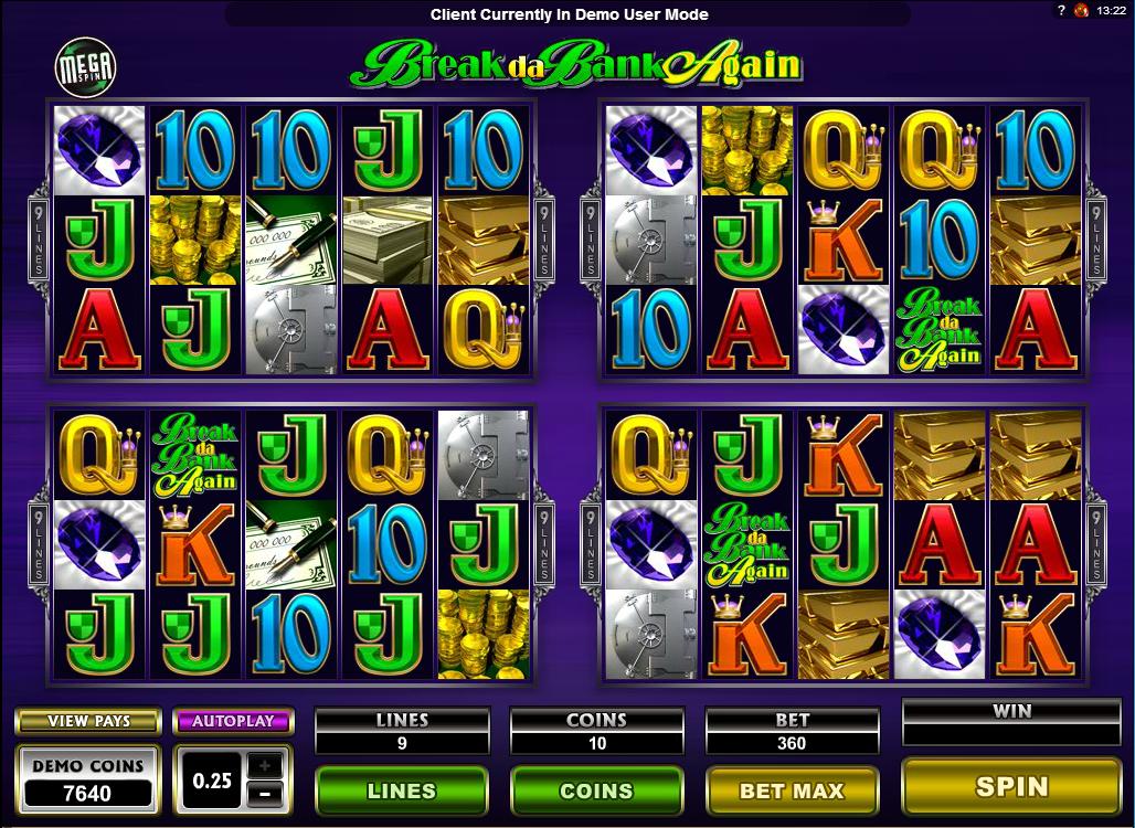 Video-Slot Break da Bank Again –kostenlos online spielen