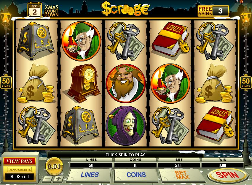 Scrooge slot - spil gratis Microgaming spil online