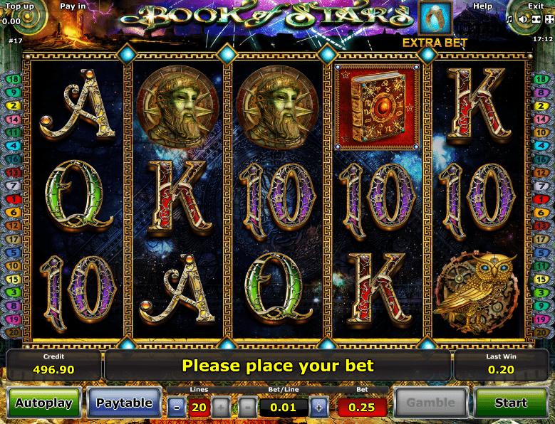 Spielautomat Book of Stars Online Kostenlos
