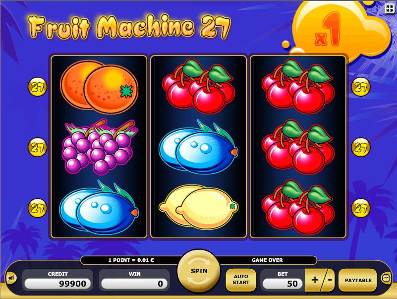 Kostenlos Fruit Machine 27 Online Automatenspiel spielen