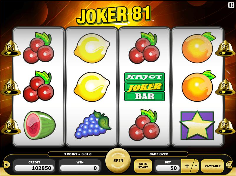Casino Spiele Joker 81 Kostenlos Spielen