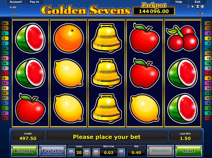 Spielautomat Golden Sevens Online Kostenlos Spielen