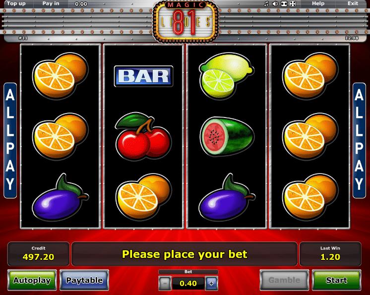 Kostenlose Automatenspiel Magic 81 Online Spielen