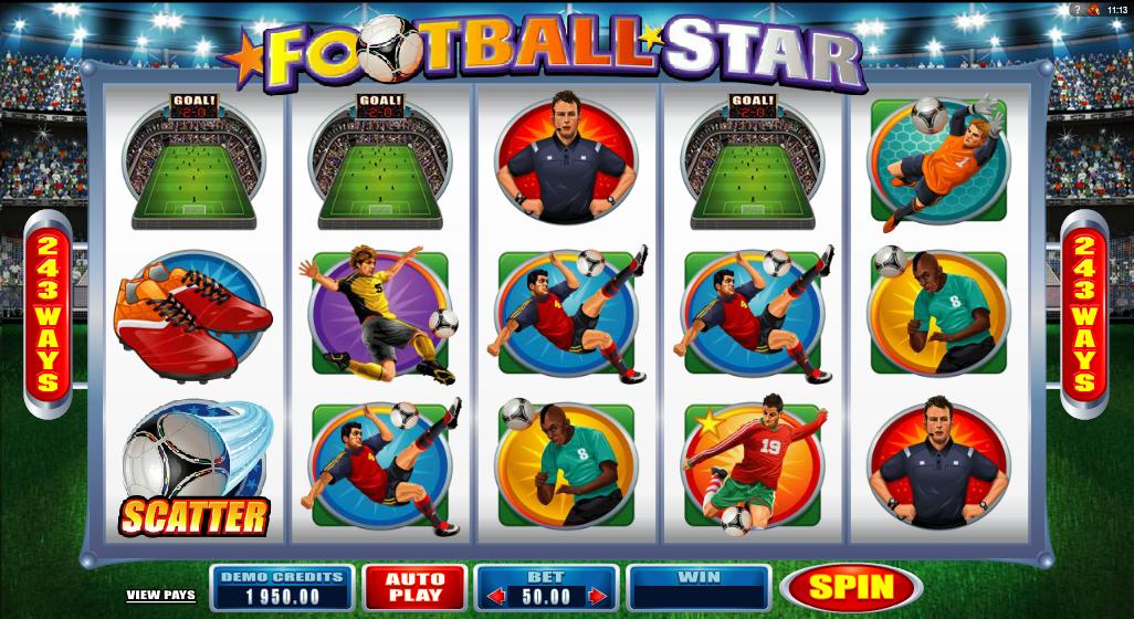 Kostenlose Spielautomat Football Star Online