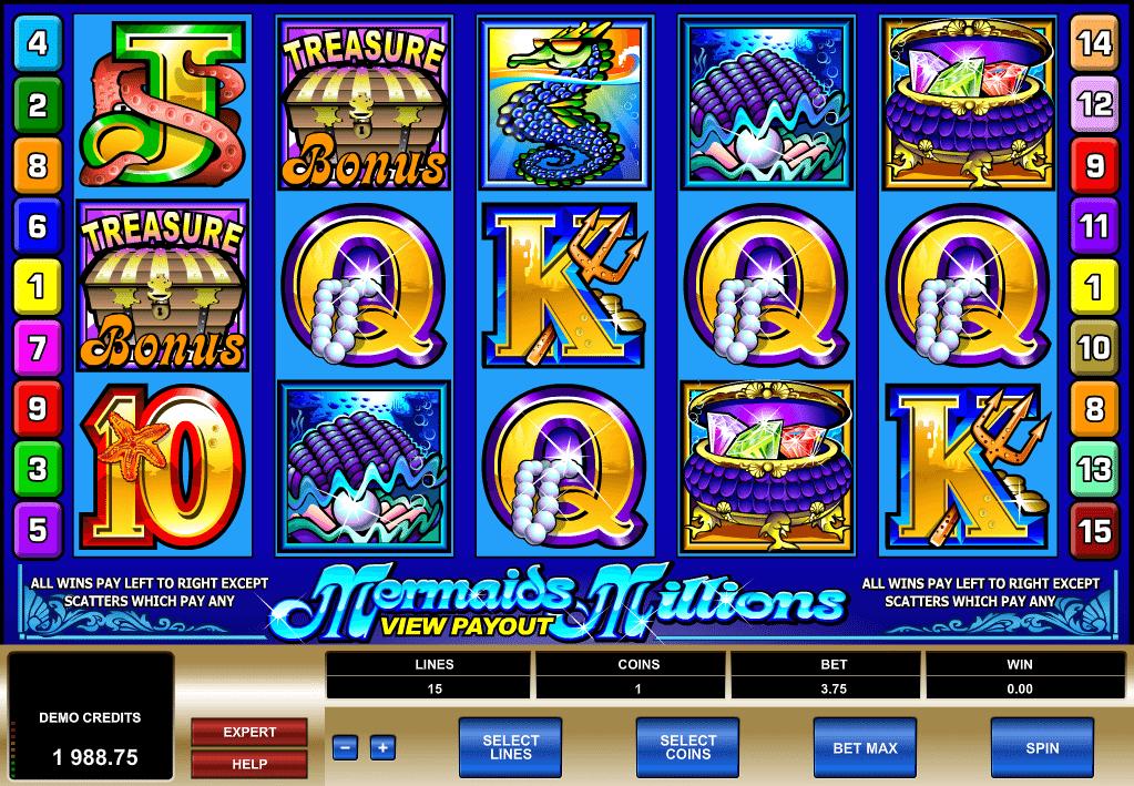 Kostenlose Spielautomat Mermaids Millions Online