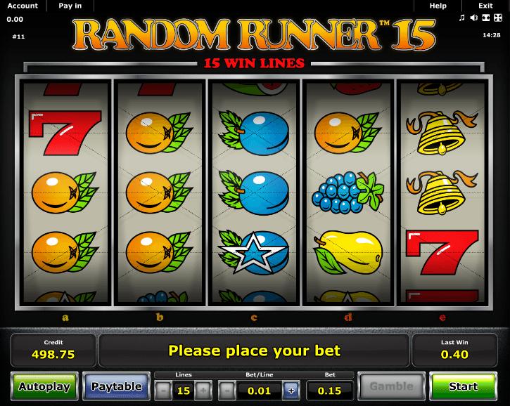 Random Runner 15 Spielautomat Kostenlos Spielen