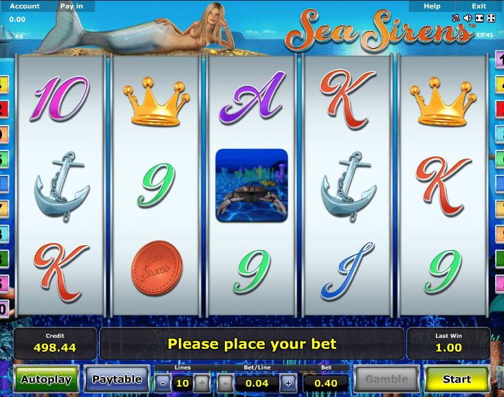 Spielautomat Sea Sirens Online Kostenlos Spielen