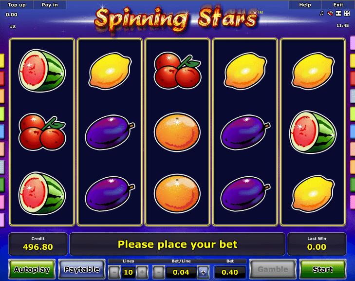 Spielautomat Spinning Stars Online Kostenlos Spielen