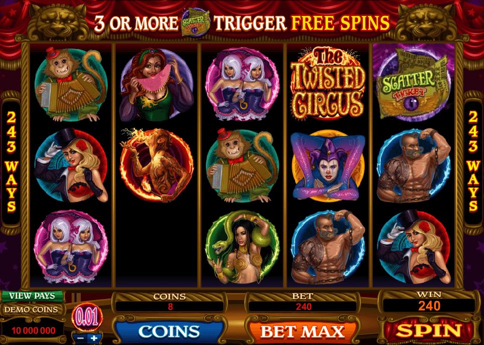 Spielautomat The Twisted Circus Online Kostenlos Spielen