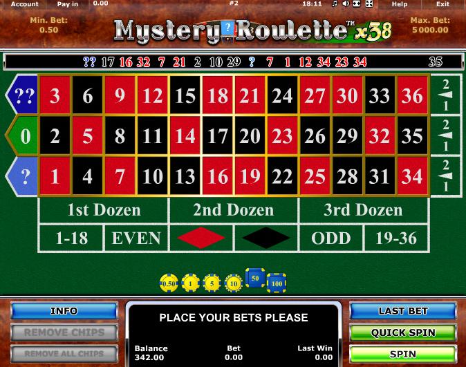 Spielautomat Mystery Roulette x38 Online Kostenlos Spielen