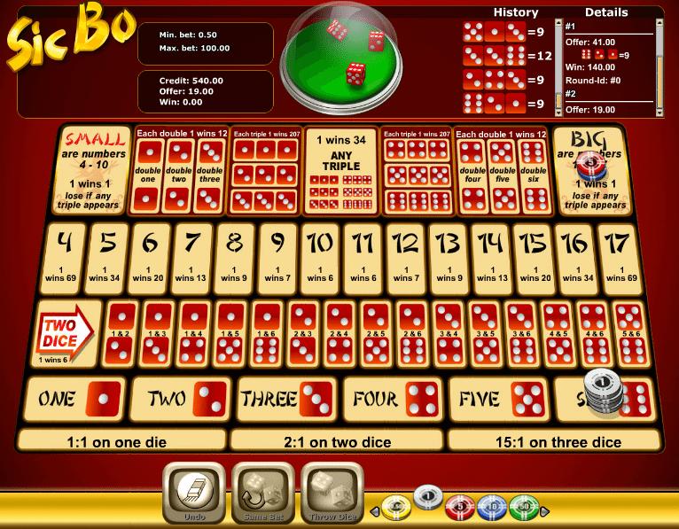 Kostenlose Spielautomat Sic Bo Novomatic Online