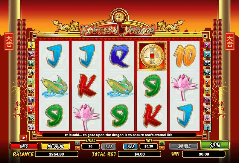 Kostenlose Spielautomat Eastern Dragon Online