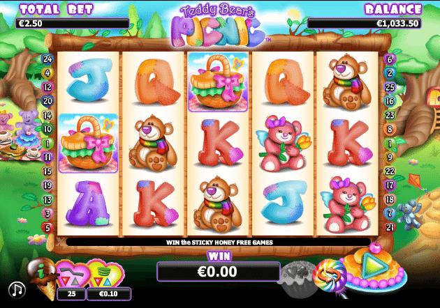 Teddy Bears Picnic Spielautomat Kostenlos Spielen