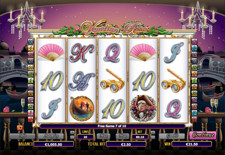 Kostenlose Spielautomat Venetian Rose Online