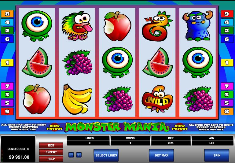 Spielautomat Monster Mania Online Kostenlos Spielen