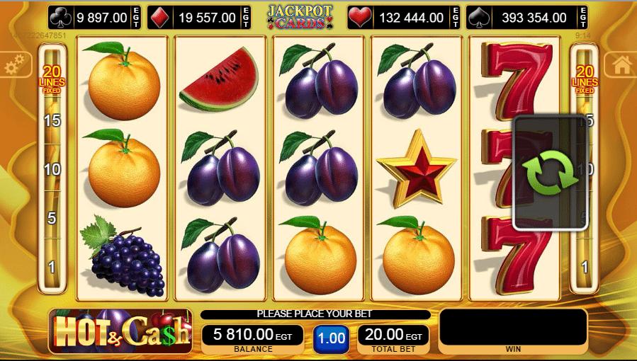 Kostenlose Spielautomat Hot and Cash Online