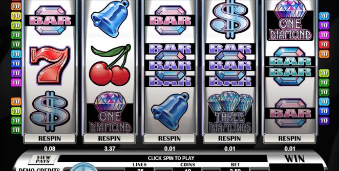 Kostenlose Spielautomat Retro Reels Diamond Glitz Online