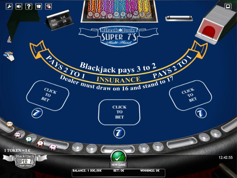 Casino Spiele BlackJack Super 7s Multihand Online Kostenlos Spielen