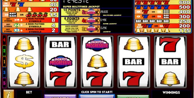 Kostenlose Spielautomat Super Multitimes Progressive Online