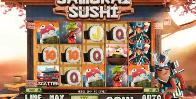 Kostenlose Spielautomat Samurai Sushi Online