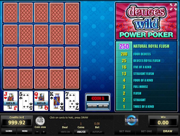Spiele Deuces Wild (EspreГџo) - Video Slots Online