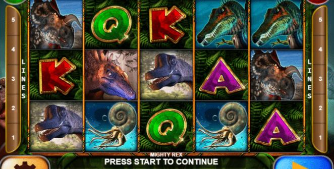 Kostenlose Spielautomat Mighty Rex Online