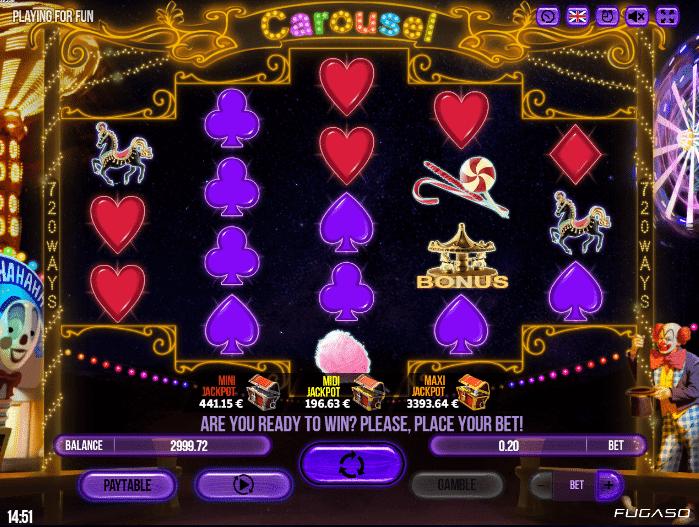 Kostenlose Spielautomat Carousel Online