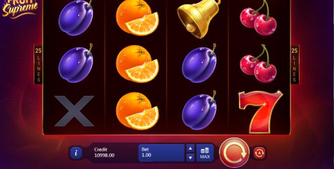 Kostenlose Spielautomat Fruit Supreme 25 Lines Online