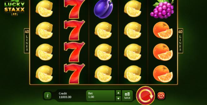 Lucky Staxx 40 lines Spielautomat Kostenlos Spielen