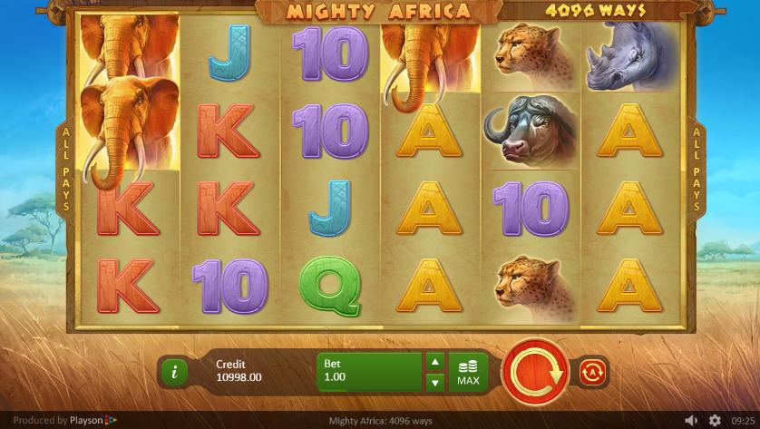 Kostenlose Spielautomat Mighty Africa Online