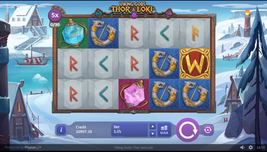 Spielautomat Viking Gods Thor and Loki Online Kostenlos Spielen