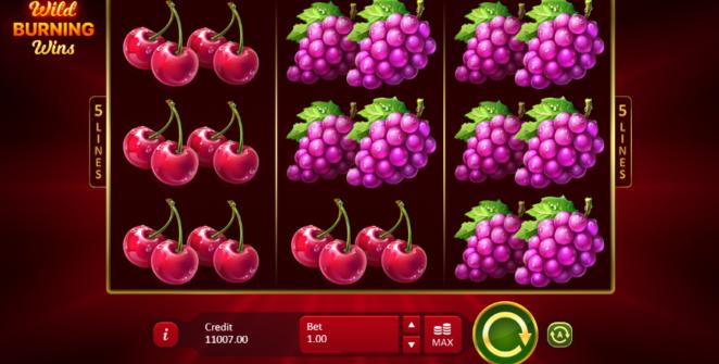 Kostenlose Spielautomat Wild Burning Wins 5 lines Online